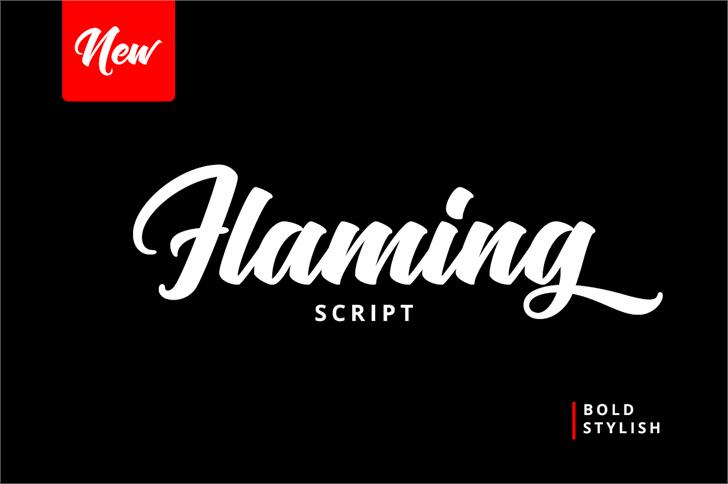 Flaming Font design text