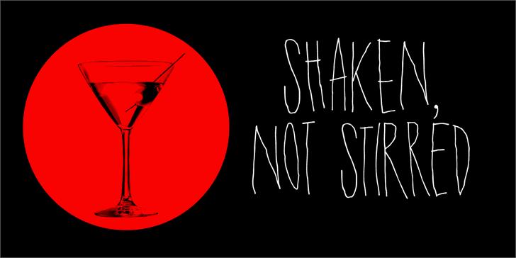 DK Shaken Not Stirred Font design cartoon