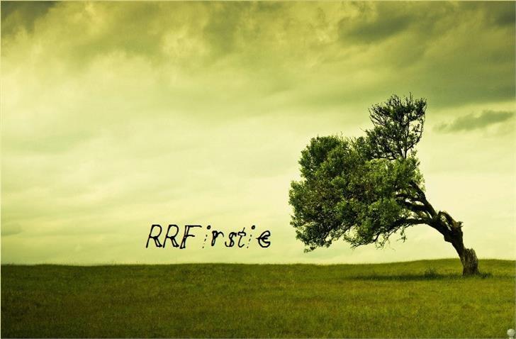 RRFirstie Font grass outdoor