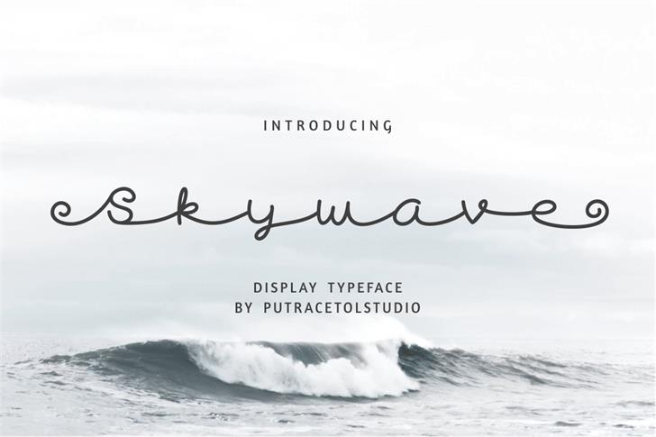 Skywave Free font by PutraCetol Studio