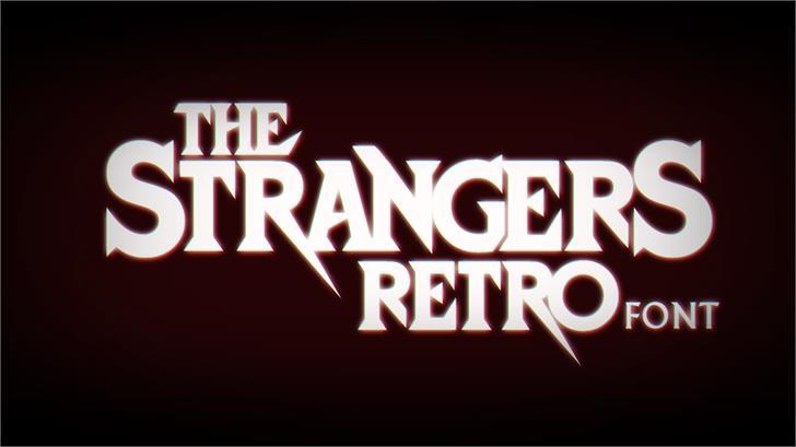 StrangersRetro Font design text