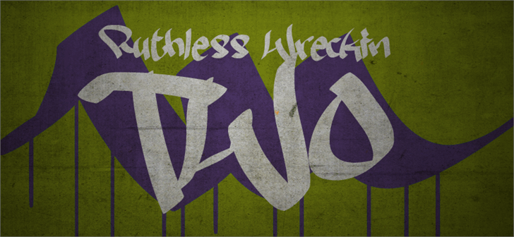 Ruthless Wreckin TWO Font handwriting drawing