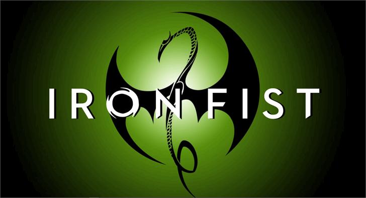 Iron Fist Font cartoon design
