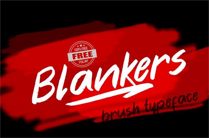 Blankers Font design