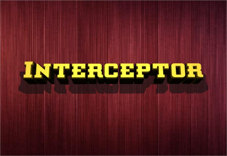 Interceptor Font red yellow