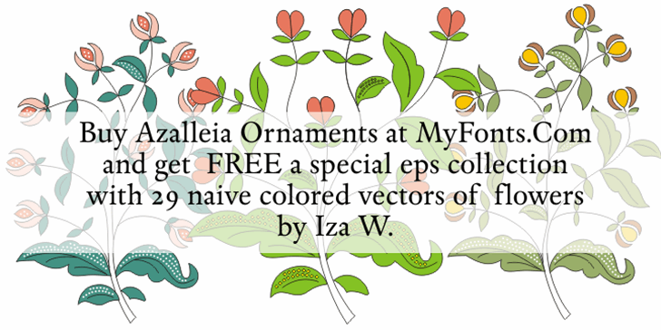 Azalleia Ornaments Free font by Intellecta Design