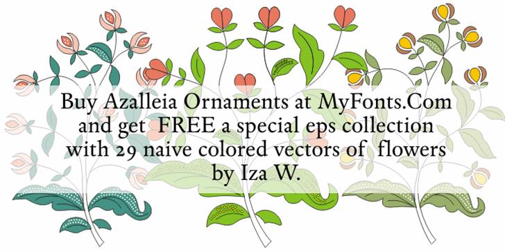 Azalleia Ornaments Free Font text design