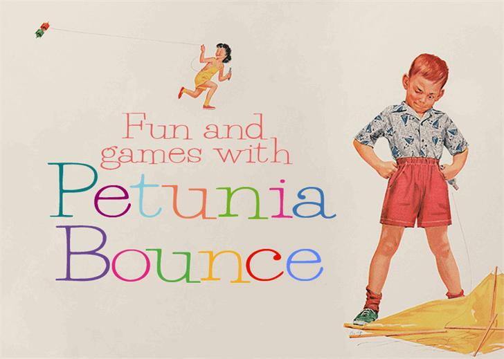 PetuniaBounce Font cartoon footwear