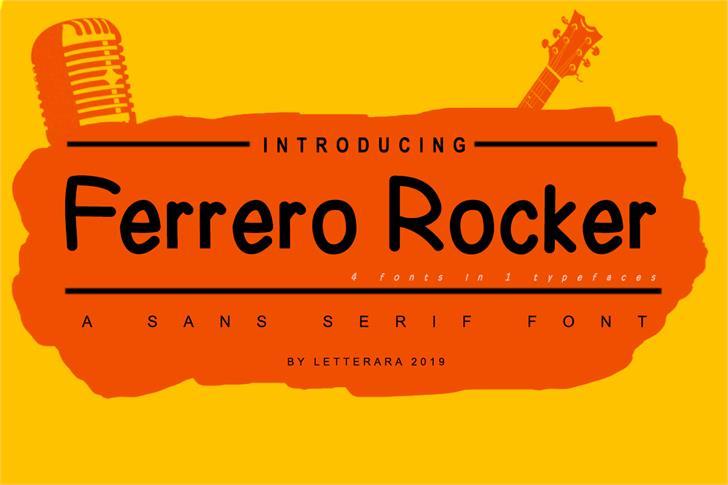 Ferrero Rocher font by letterara
