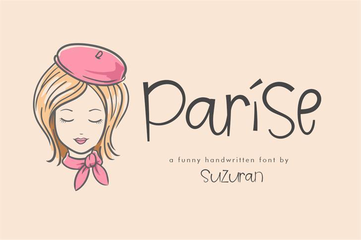 Parise Font cartoon illustration
