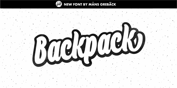 Backpack Personal Use Font design cartoon