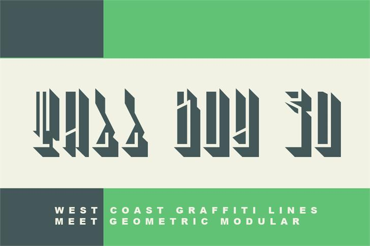 Tall Boy 3D font by Out Of Step Font Company