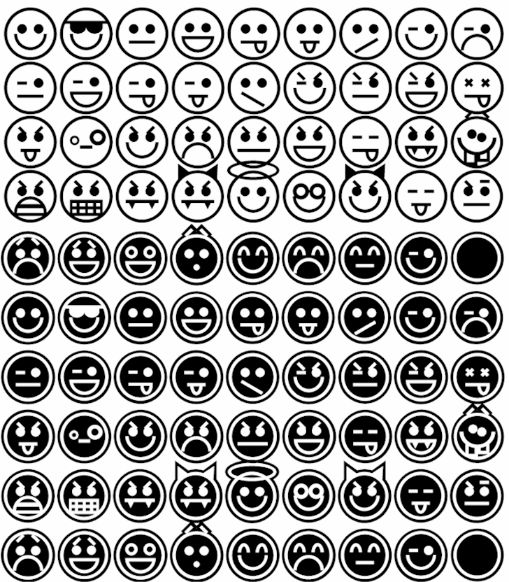 Emoticons font by Purdy Design