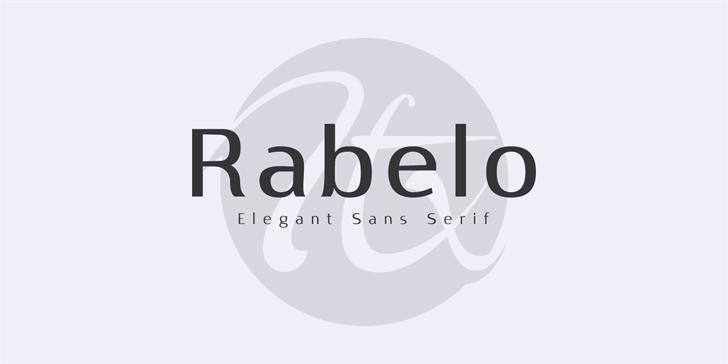 Rabelo Font design graphic