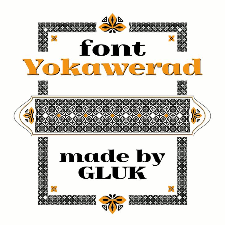Yokawerad Font screenshot design
