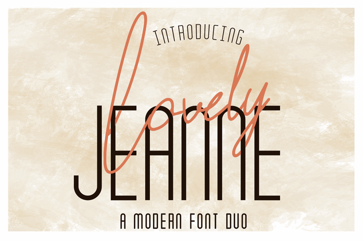 Lovely Jeanne Script Font typography text
