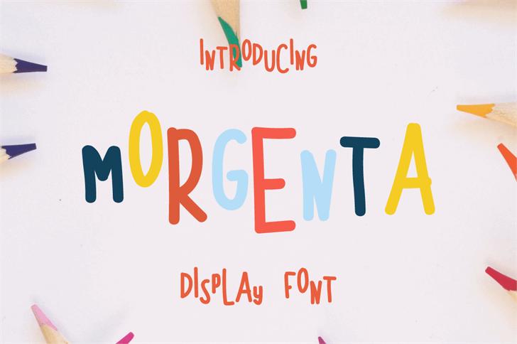 MORGENTA Font handwriting font
