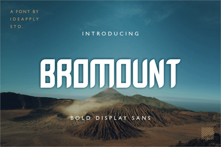 Bromount Personal Use Only Font screenshot mountain