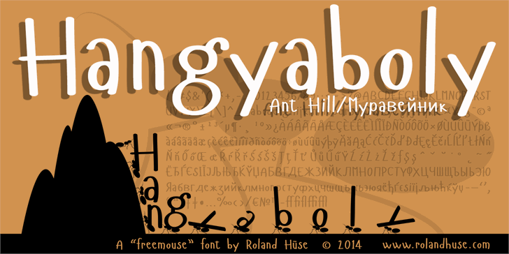 Hangyaboly Font text typography