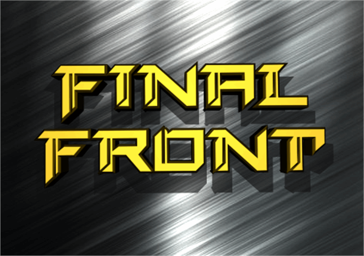 Final Front Font screenshot poster
