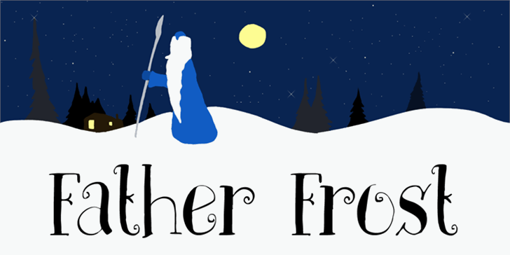 DK Father Frost Font cartoon illustration