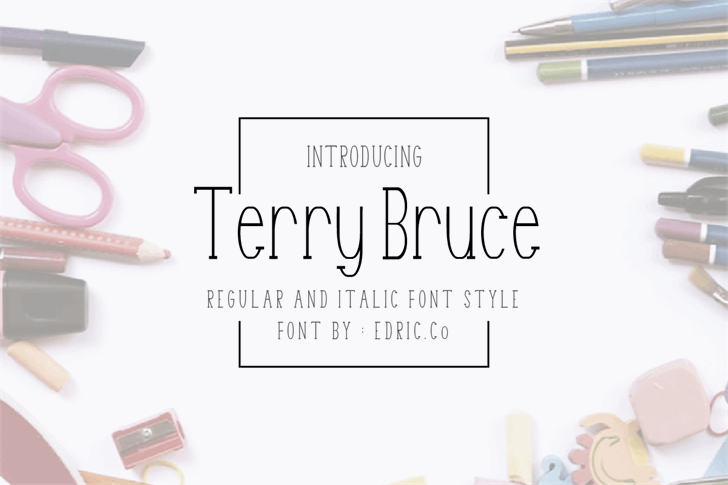 Terry Bruce Font design indoor