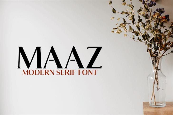 Maaz Bold Font wall design