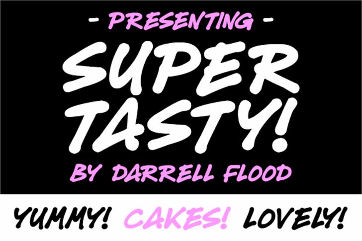 Super Tasty Font text design