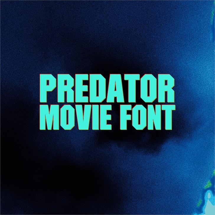 Predator Movie font by FZ Fonts