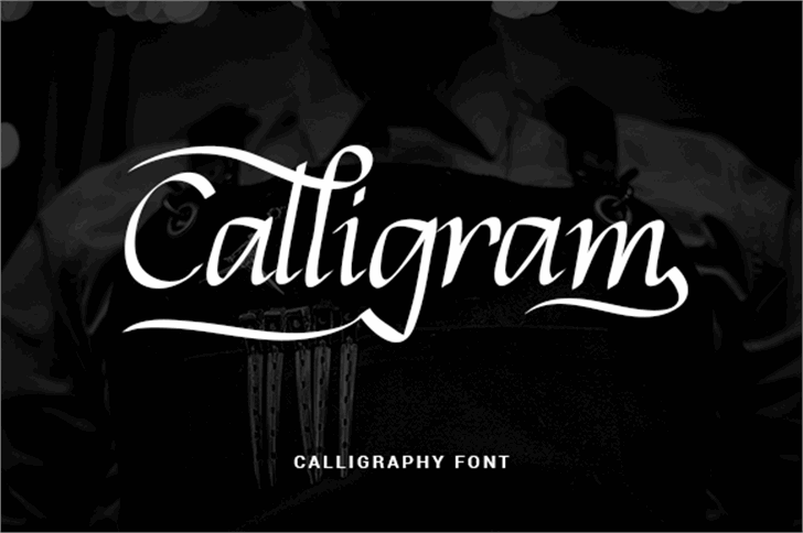 Calligram Personal Font person text