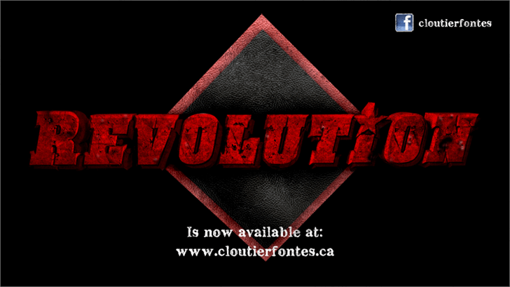 CF Revolution Font screenshot poster