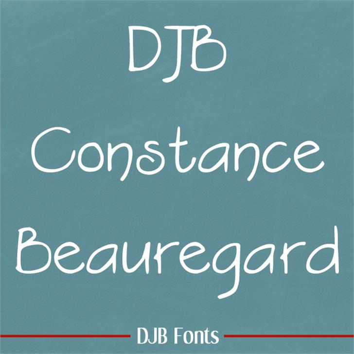 DJB Constance Beauregard Font blackboard text