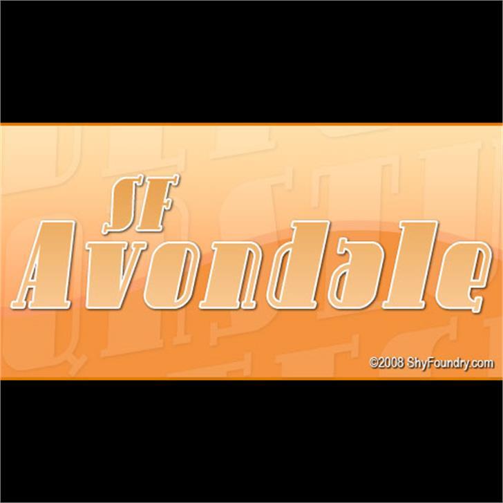 SF Avondale Font text