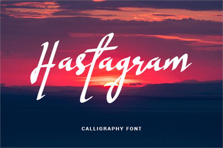 Hastagram Personal Font design text