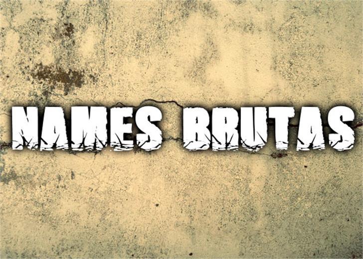 Names Brutas Font handwriting drawing
