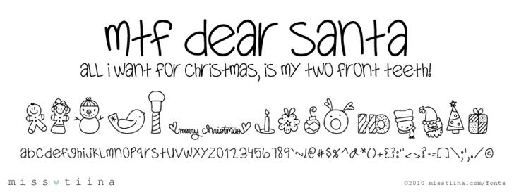 MTF Dear Santa Font handwriting typography