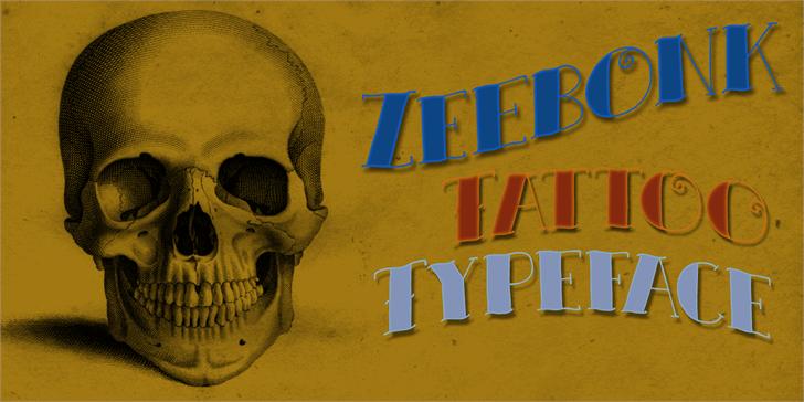 DK Zeebonk Font drawing poster