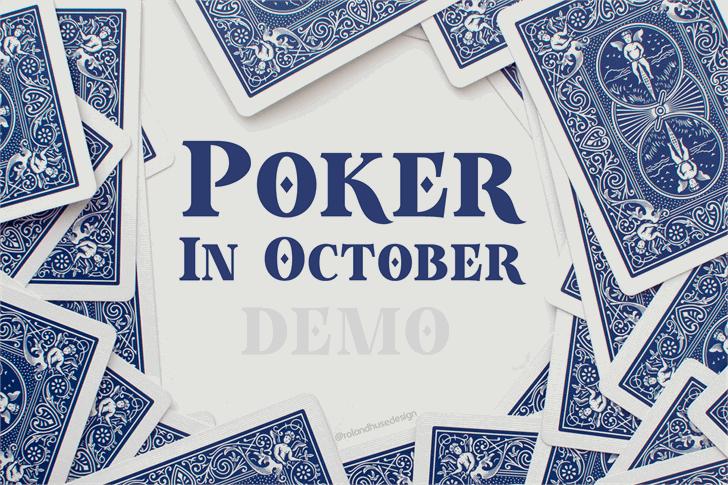 Poker In October Demo Font text design