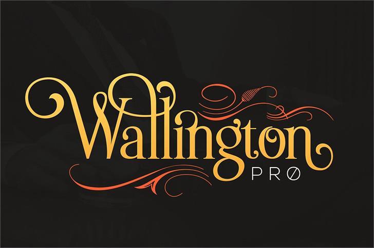 Wallington Font design typography
