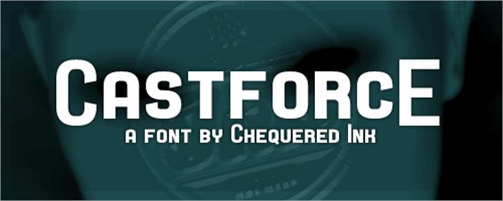 Castforce Font screenshot design
