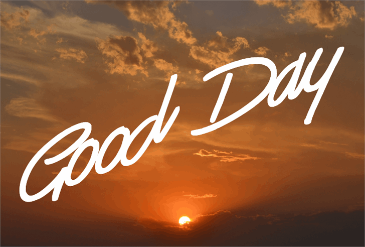 Good Day font by Jonathan S. Harris
