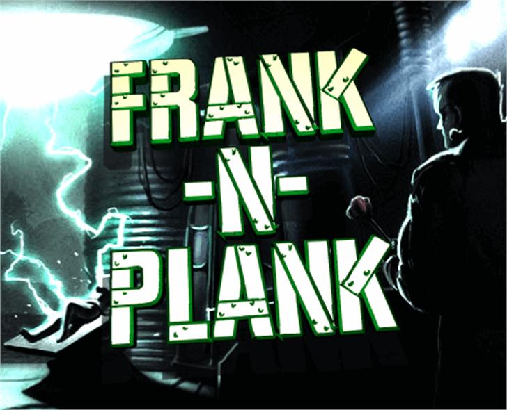 Frank-n-Plank Font screenshot poster