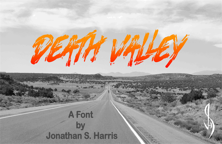 Death Valley font by Jonathan S. Harris