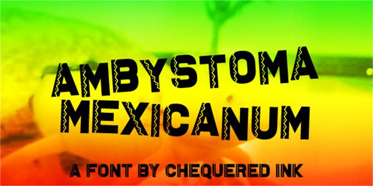 Ambystoma Mexicanum font by Chequered Ink