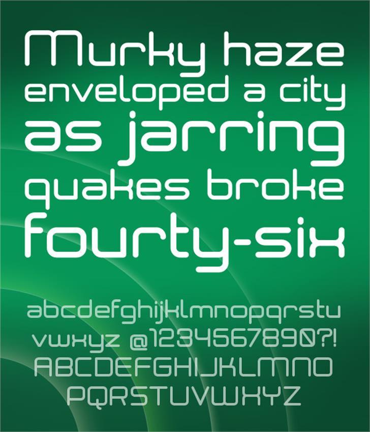 Neogrey Medium Font green screenshot