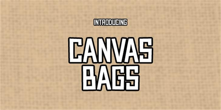 Canvas Bags font by Chequered Ink
