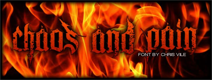 Chaos and Pain Font fire building