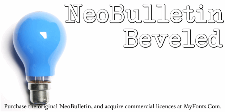 NeoBulletin Beveled Font screenshot design