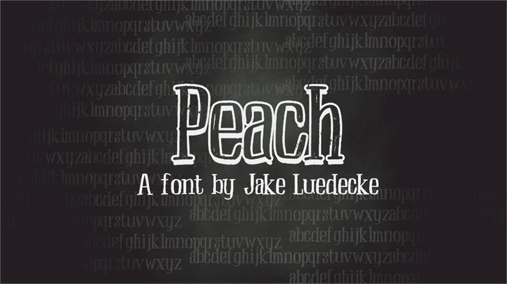 Peach Font text design