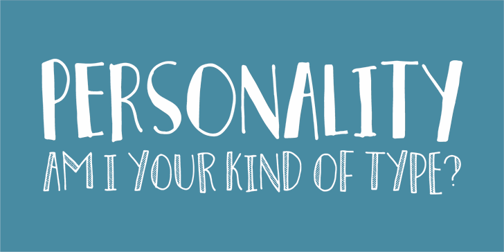 Personality DEMO font by pizzadude.dk